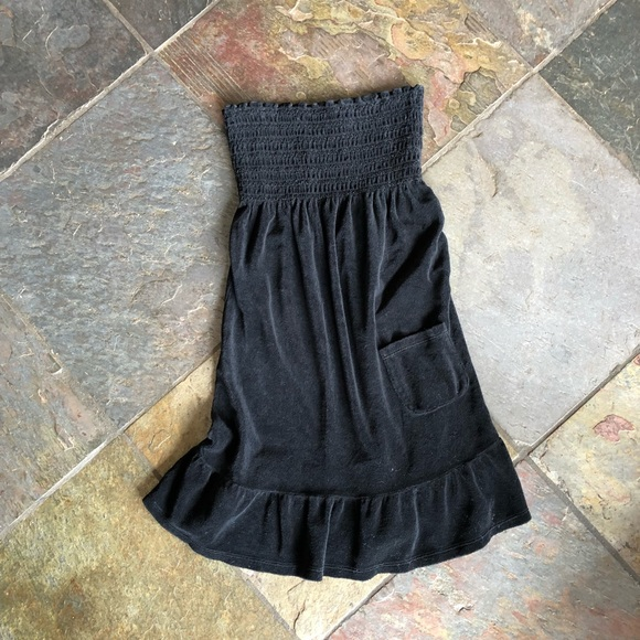 67cc4561d5 Juicy Couture Other - Juicy Couture black strapless terry cloth cover up
